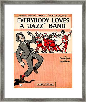 Everybody Loves A Jazz Band Framed Print by Bill Cannon