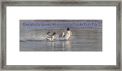 Everybody Loves Wisconsin's Friday Fish Fry Framed Print by Thomas Young