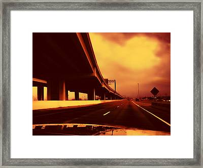 Everybody's Out Of Town - Sundown Framed Print by Wendy J St Christopher