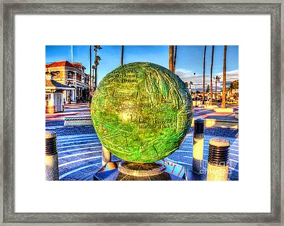 Framed Print featuring the photograph Everyone Is Welcome At The Beach by Jim Carrell