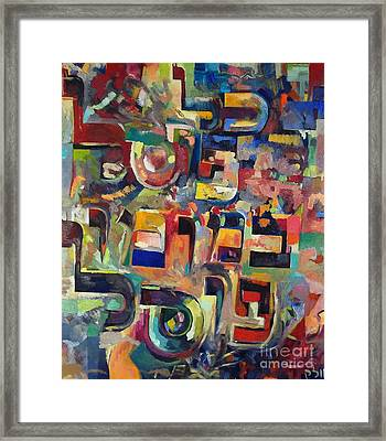 Everyone That Discounts Another It Is With His Own Fault That He Discounts The Other Framed Print by David Baruch Wolk