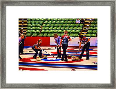 Everyone Watch The Rock 2 Jones And Muirhead Framed Print by Lawrence Christopher