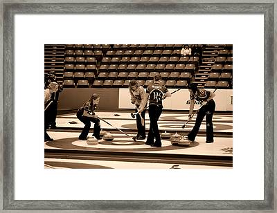 Everyone Watch The Rock 3 Jones And Muirhead Framed Print by Lawrence Christopher