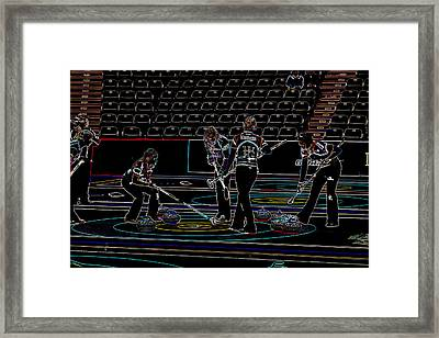 Everyone Watch The Rock 4 Jones And Muirhead Framed Print by Lawrence Christopher