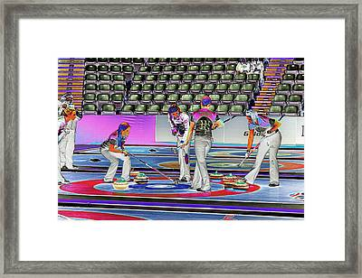 Everyone Watch The Rock 5 Jones And Muirhead Framed Print by Lawrence Christopher