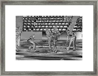 Everyone Watch The Rock 6 Jones And Muirhead Framed Print by Lawrence Christopher