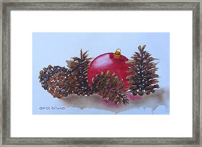 Everyone's Welcome At Christmas Framed Print by Carol Bruno