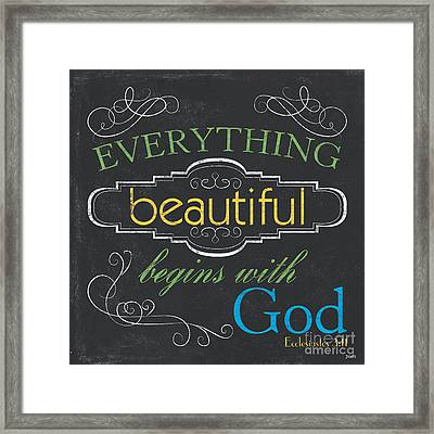 Everything Beautiful Framed Print by Debbie DeWitt