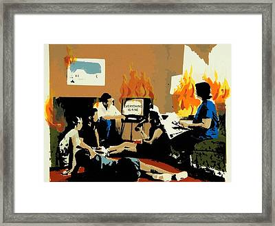 Everything Is Fine Framed Print by David Honaker
