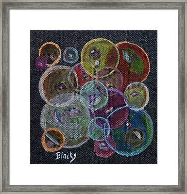 Everything That Goes Around Framed Print by Donna Blackhall