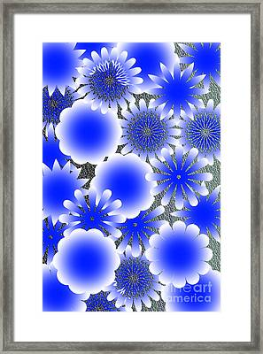 Every Blue Snowflakes Framed Print by Tina M Wenger