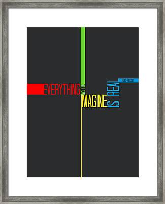 Everything You Imagine Poster Framed Print by Naxart Studio
