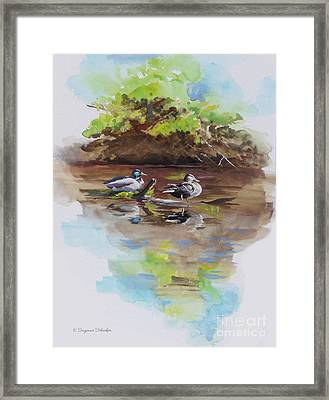 Everythings Just Ducky Framed Print by Suzanne Schaefer