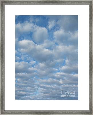 Everywhere - Clouds Framed Print by Margaret McDermott