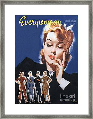 Everywoman 1942 1940s Uk Womens Framed Print