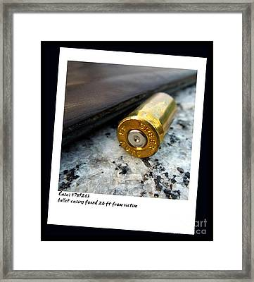 Evidence Framed Print by Renee Trenholm