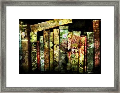 Evie's Book Garden Framed Print