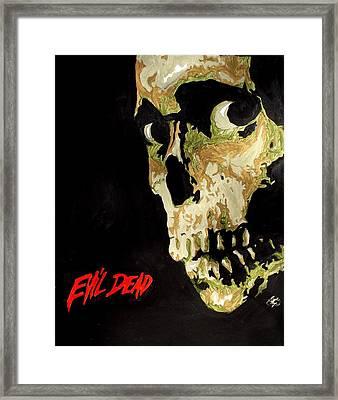 Evil Dead Skull Framed Print