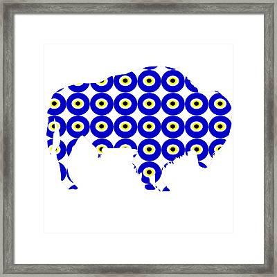 Evil Eye American Bison  Framed Print