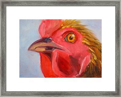 Evil Eye Framed Print by Nancy Merkle