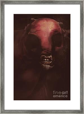 Evil Greek Mythology Minotaur Framed Print