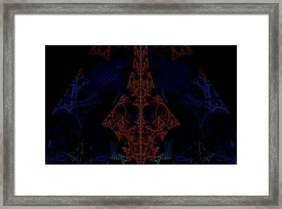 Evil Lurks In The Darkness Framed Print by Ricky Jarnagin