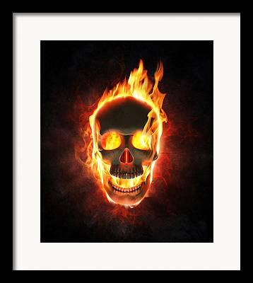 Fiery Digital Art Framed Prints
