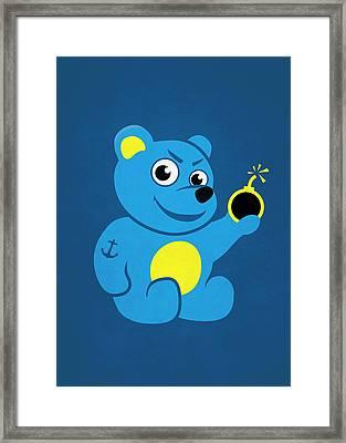 Evil Tattooed Teddy Bear Framed Print