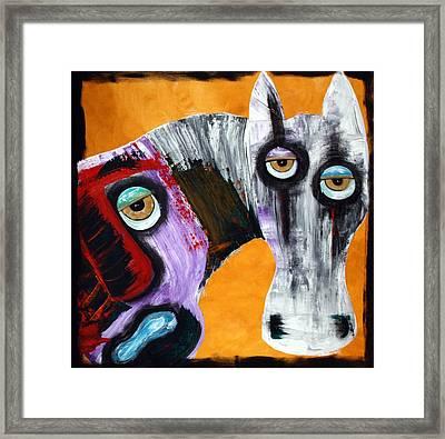Evil - The White Horse Framed Print by Laura Barbosa