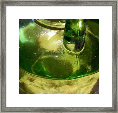 Evo In Green Glass Framed Print by Terry Cobb