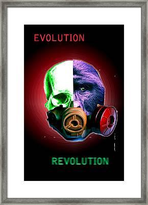 Evo-revo Framed Print