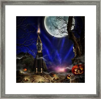 Evocation In Halloween Night Framed Print by Alessandro Della Pietra