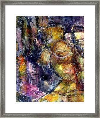 Framed Print featuring the painting Evoke by Katie Black