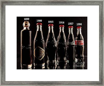 Evolution Of Coca Cola Tm Framed Print