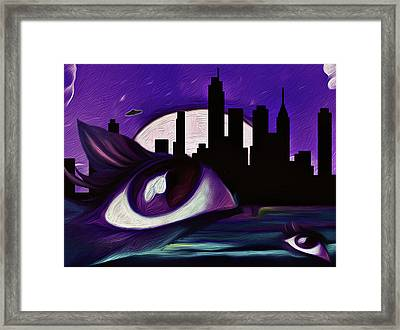Framed Print featuring the painting Evolution by Persephone Artworks