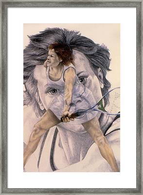 Evonne Goolagong Cawley Framed Print