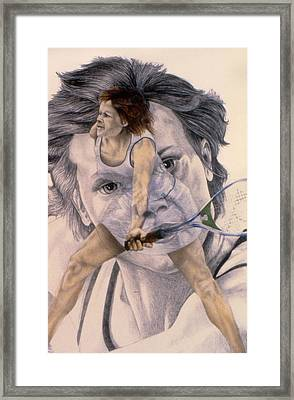 Evonne Goolagong Cawley Framed Print by Phil Welsher