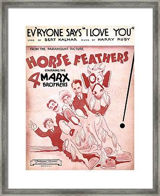 Evryone Says I Love You Framed Print