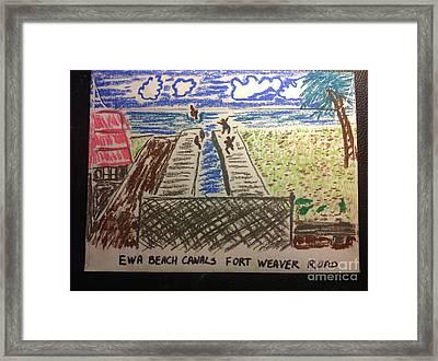 Ewa Beach Canals Framed Print