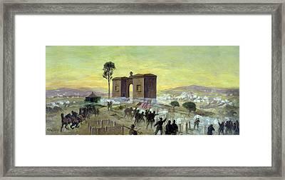 Ewells Charge On Cemetery Ridge Framed Print