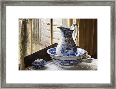 Ewer And Basin Framed Print by Michael DeFreitas
