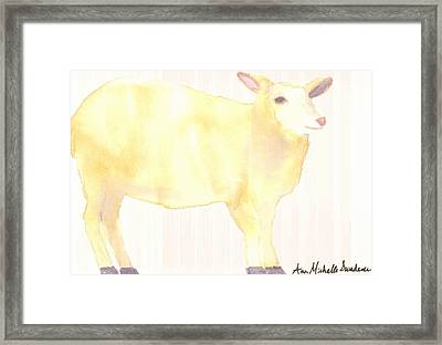 Ewe's Not Fat Ewe's Fluffy Framed Print