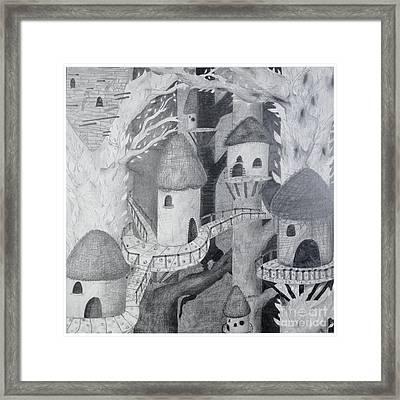 Ewok Village Framed Print by Sean Goldsmith