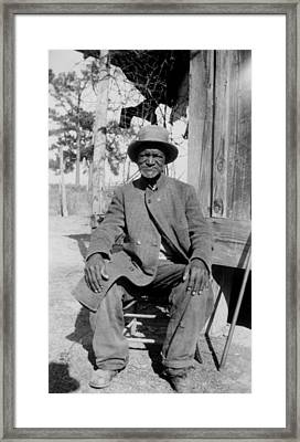 Ex-slave Wes Brady - Texas 1937 Framed Print
