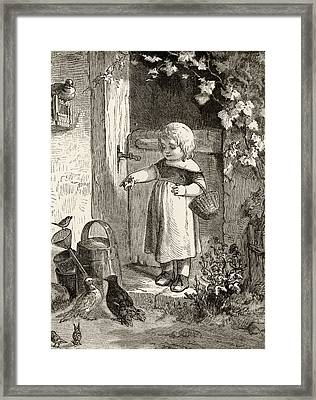 Example Of 19th Century Childrens Book Framed Print by Ken Welsh