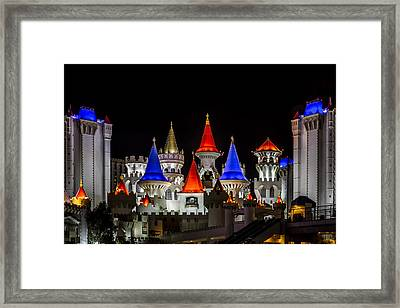 Excalibur At Night - Las Vegas Framed Print