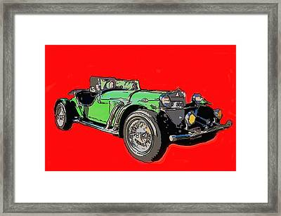 Excalibur Car  Framed Print by Tommytechno Sweden