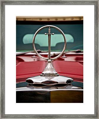 Excalibur Hood Ornament Framed Print