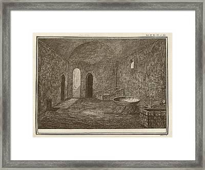 Excavated Room At Pompeii Framed Print by Middle Temple Library