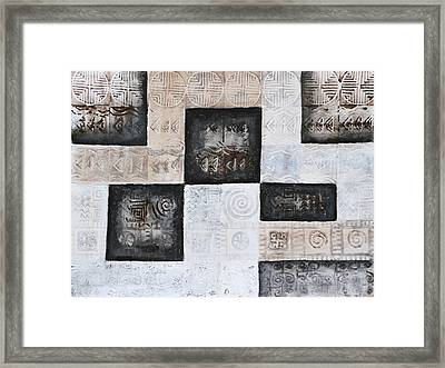 Excavation I Framed Print by Diana Perfect